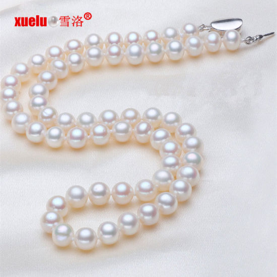 AAA 8mm Real Cultured White Freshwater Pearl Platinum Plated Earrings Gifts