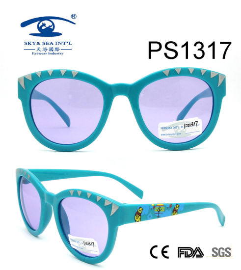 069aa480955a Blue Frame Cartoon Bear Colorful Kid Plastic Sunglasses (PS1317) pictures &  photos