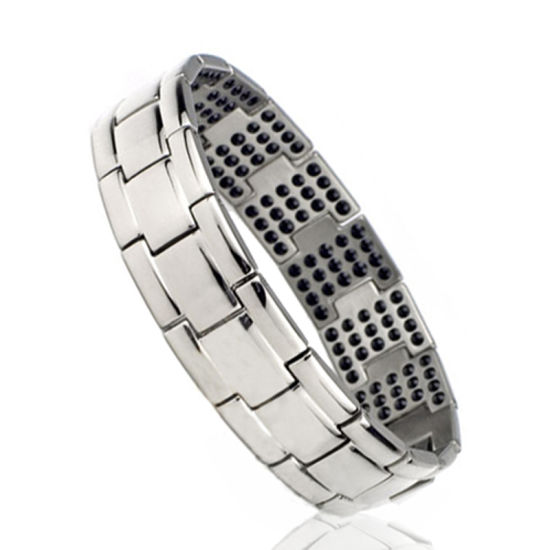 Health Care Gold Plated Stainless Steel Bracelet with Germanium Magnets Infrared Anion pictures & photos
