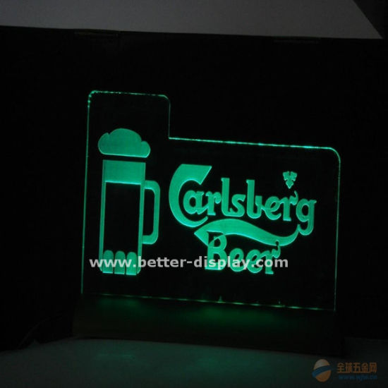Custom Hanging LED Acrylic Signs with Engraved Logo pictures & photos