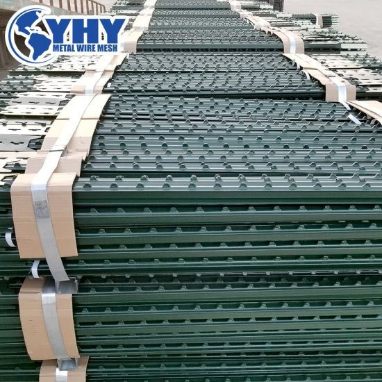 0.95, 1.15, 1.25, 1.33, 1.50 Lbs/FT Rail Steel T Fence Post for Field Fence