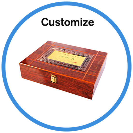 Custom Logo Wooden Jewelry Watch Wine Perfume Glasses Gift Box