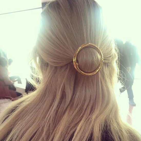 Fashion Gold-Color Round Hair Clip Metal Hairpins Hair Jewelry pictures & photos