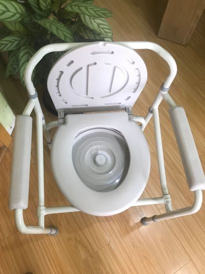 Adjustable Commode Chair Toilet Potty Chair for Elderly
