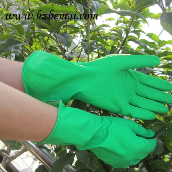 Latex Cleanning Dish Washing Household Glove pictures & photos