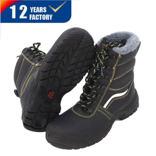 China Winter Genuine Leather Steel Toe