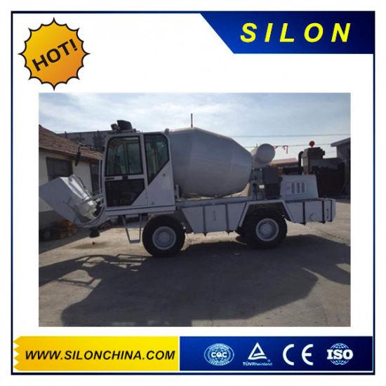 Silon Mini Truck Mounted Self-Loading Concrete Mixer Truck with 4WD