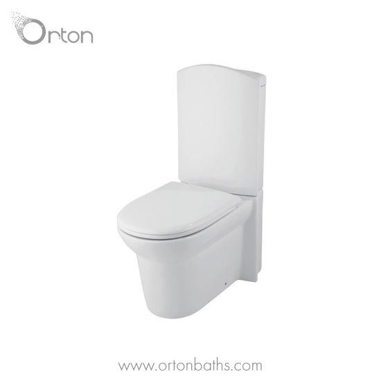Modern Bathroom Sanitary Ware Furniture Two Piece Toilet Closestool with Sleek Cistern