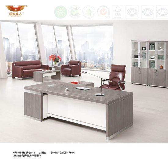 Panel Office Furniture Executive Director Desk Table with L Shape Return (H70-0165)