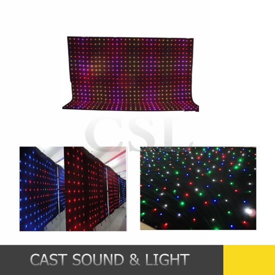Customize Fireproof Material Star Cloth LED Curtain Screen pictures & photos