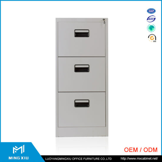 Mingxiu High Quality 3 Drawer Vertical File Cabinet / 3 Drawer Metal File  Cabinet