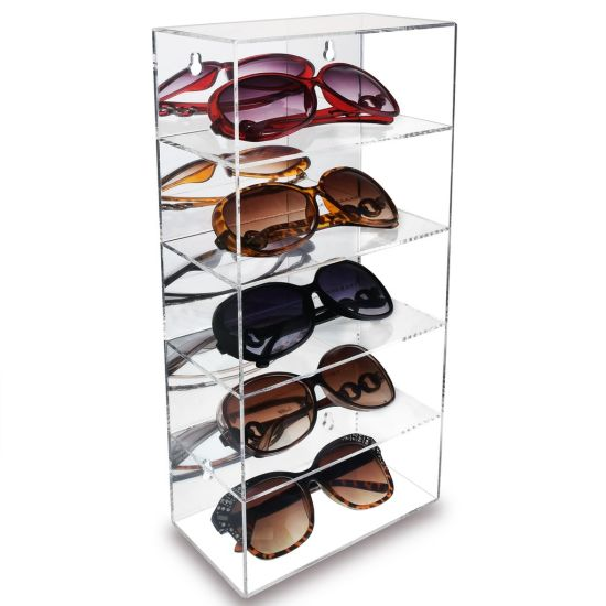 Storage Case Wall Mounted With Lock, Sunglasses Storage Case