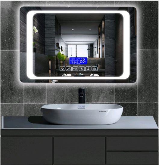 China Retangle Smart Led Mirror Bathroom Mirror Household Mirror Explosion Proof Mirror Bluetooth China Defogging Anti Fogging Mirror Intelligence Intelligent Mirror