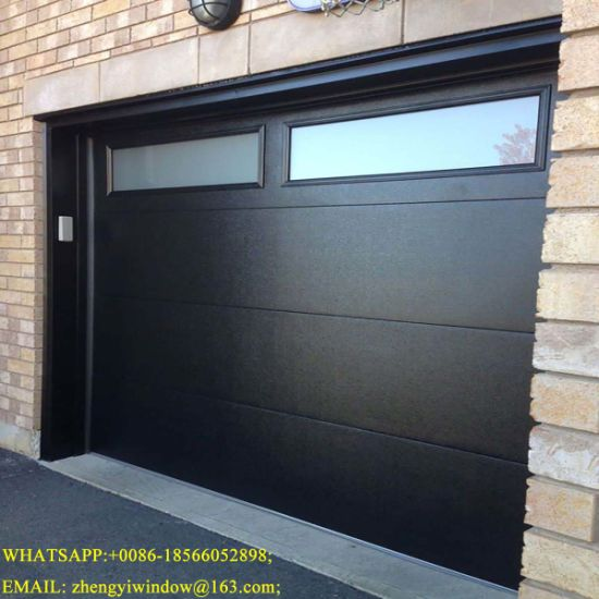Wholesale Modern Exterior Steel Entry Doors Remote Control Automatic House Used Aluminum Transparent Glass Garage Entrance Door Guangzhou