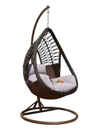 New Rattan Garden Hanging Swing Furniture with Handmake Flat Rattan