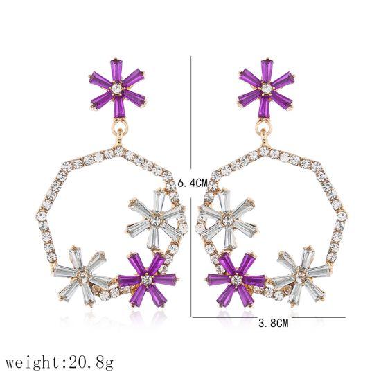2020 Newest Design Earring Silver or Brass Gold Platting Fusion Stone Fashion Eardrop Charming Earrings Jewelry (11)