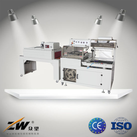 Automatic Heat Hot Sealing Sealer and Shrink Shrinkable Shrinking Film Pack Packer Package Packing Wrap Wrapper Wrapping Machine for Food Packaging