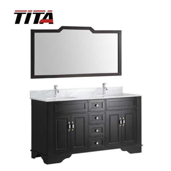 Bathroom Vanity Manufacturer Wholesale Antique Solid Wood Construction Bathroom Vanity With Marble Top T9092f China Bathroom Cabinet Bathroom Vanity Made In China Com