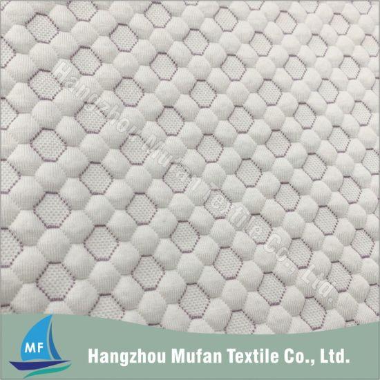 Honeycomb Design Viscose Blended Jacquard Knitted Mattress Ticking Fabric