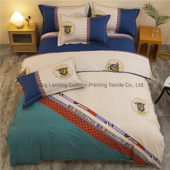 Wholesale Custom Size Luxury 4PCS Home Printed Comforter Kids Bedding Set 100% Cotton
