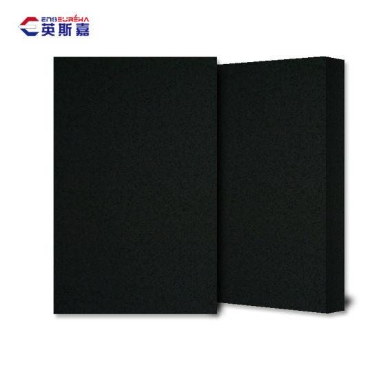 SGS Certificated Artificial Black Quartz Stone for Countertop