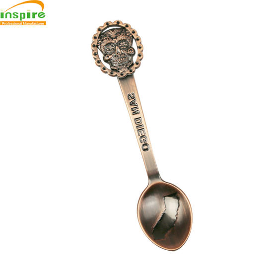 Embossed Metal Spoon for Decoration, Beautiful Customized Coffee Spoon pictures & photos