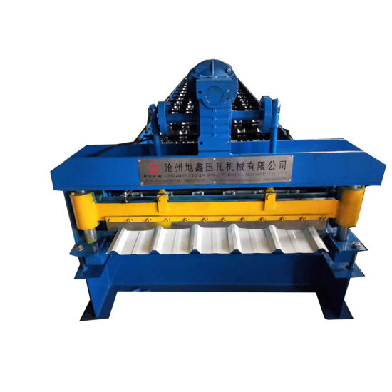 High Speed Galvanized Color Steel Roofing Panel Sheet Electric Shear Trapezoidal Profile Tile Making Cold Roll Forming Machine Production Line