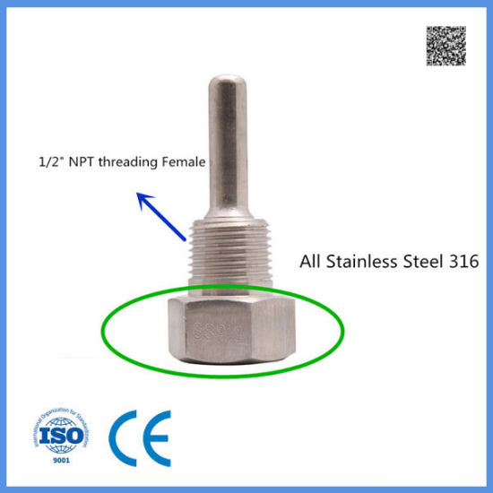 Thermocouple and Rtd Welding Stainless Steel Thermowell for Industry