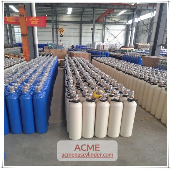 ISO Standard Seamless Steel Oxygen Nitrogen Argon Gas Cylinder