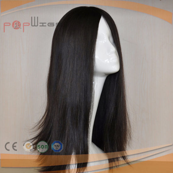 100% Remy Virgin Hair Black Color Hand Tied Top Women Wig pictures & photos