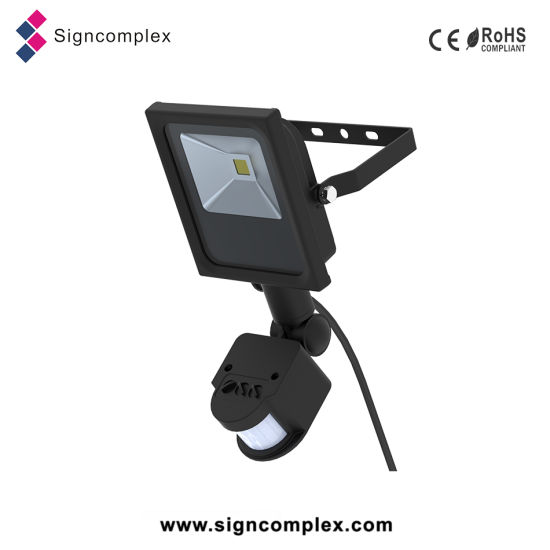 Ce RoHS Hot New COB Aluminum IP54 10W LED Flood Light Sensor pictures & photos
