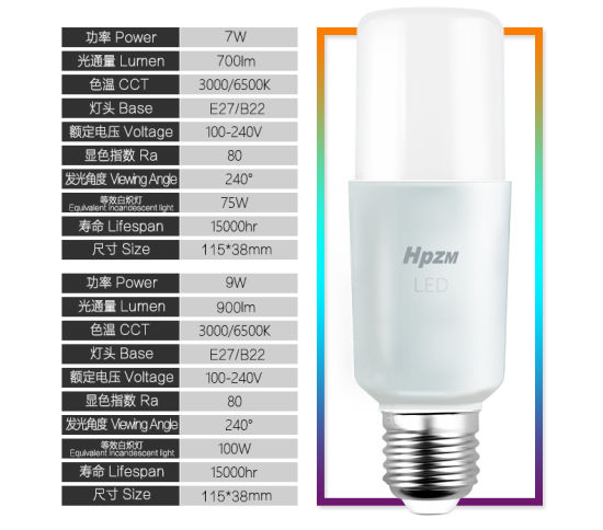 Cylindrical Bulb 7W LED Light pictures & photos