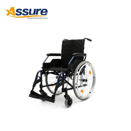 OEM European Style Non Power Folding Commode Wheelchair Manufacturer