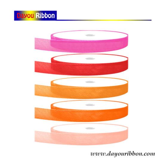"0.6cm/1/4"" Wholesale Sheer/Organza Ribbon Silk Nylone Ribbon for Christmas/Holiday/Wedding/Gardon/Party/Gift Decoration-Dy08002"