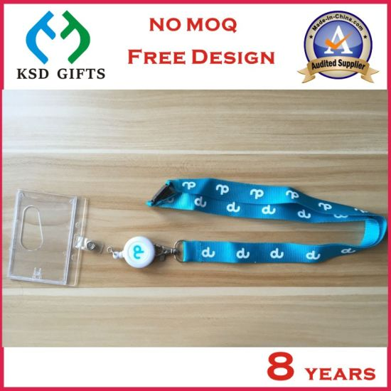 Custom Nylon Printed Lanyard with Hard PVC Card Holder (KSD-851) pictures & photos