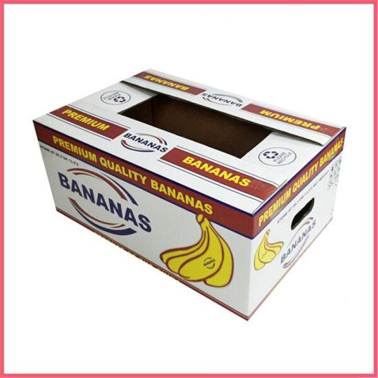 Manufacturer China Custom Logo High Definition 5 Color Flexo Printing Corrugated Paper Orange Apple Pear Lemon Mango Banana Fruit Vegetable Packaging Carton Box