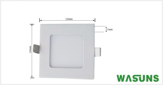 6W Commercial Lighting Square Recessed LED Panel Ultraslim pictures & photos