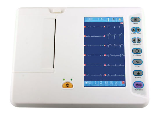 ECG EKG Machine 6 Channel 12 Leads with Color Screen pictures & photos