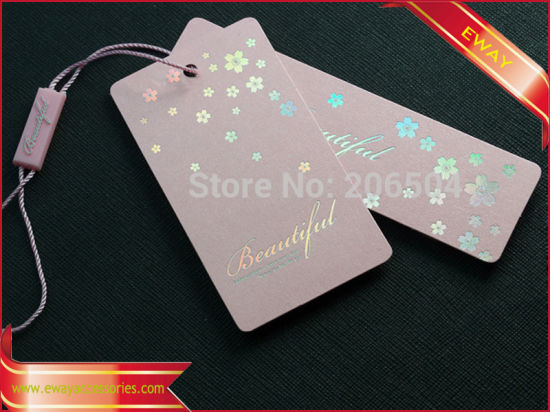 Hang Tag Pink Tag Price Tag for Clothing pictures & photos