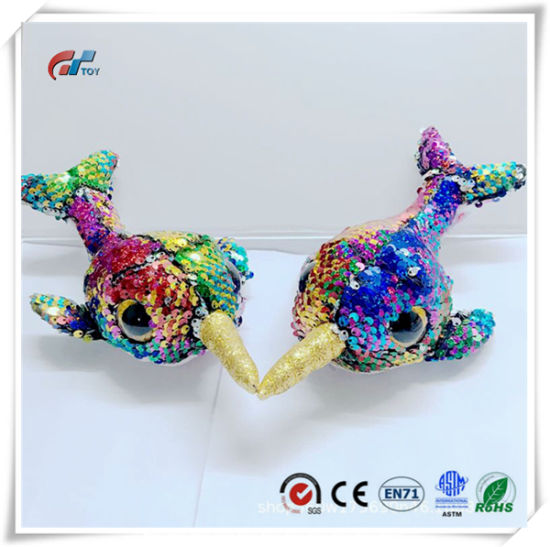 Fish Big Eyes Animal Plush Toy with Sequin for Kids