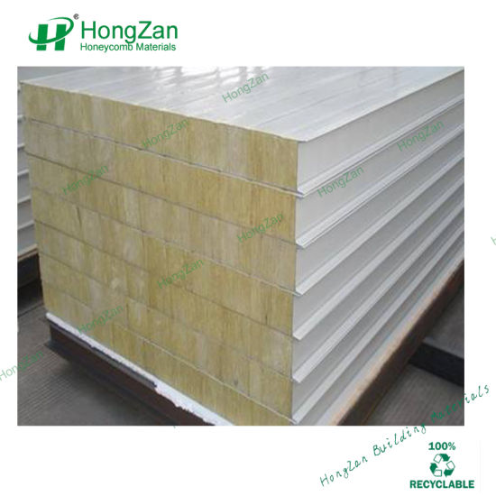 Glassfiber Rock Wool Sandwich Panel for Ship Hull Building with Heat  Insulated Material for Vessel
