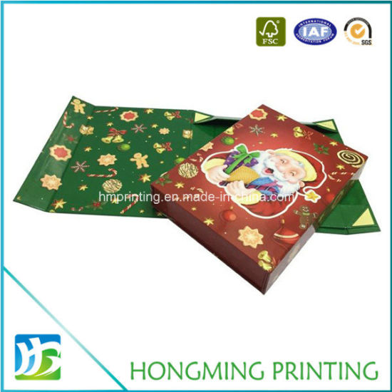 shiny printing wholesale christmas gift boxes with magnetic closure - Christmas Gift Boxes Wholesale