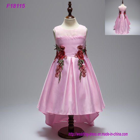China 5 Colors Childrens Wear Party Wedding Flower Baby Girls Dress