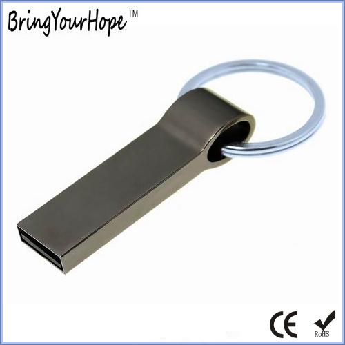 Mini Metal USB Flash Stick with Key Ring (XH-USB-152)