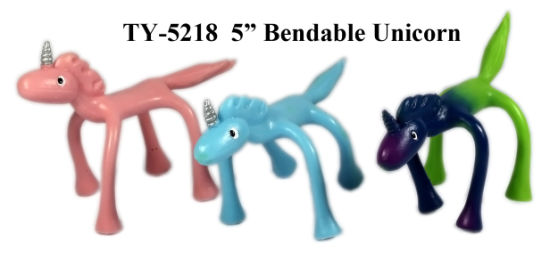Hot Funny Unicorn Bendable Toy pictures & photos