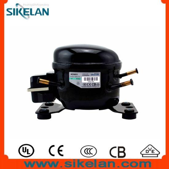 AC Compressor Refrigerator Compressor Model Adw51, L Series, R134A, Lbp, 220V, 1/6HP