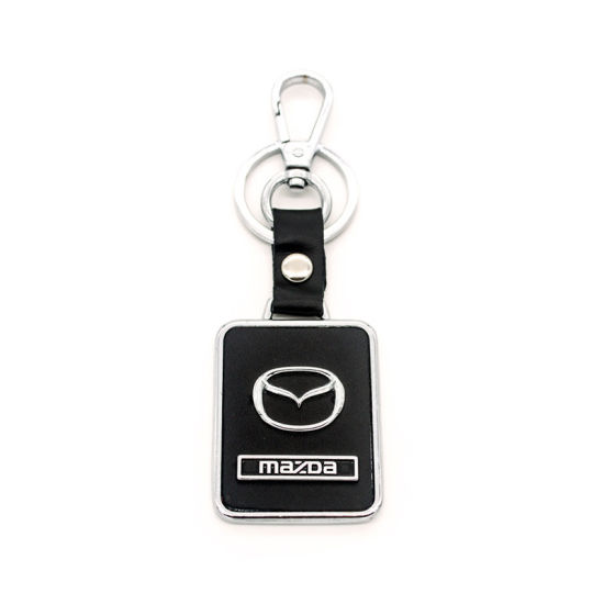 High Quality Customized Car Leather Key Chain Flexible Rubber Football Frame pictures & photos