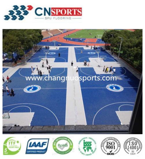 Cushion Rebound Polyurethane/PU Sports Court Coating for Basketball/Badminton/Volleyball/Futsal
