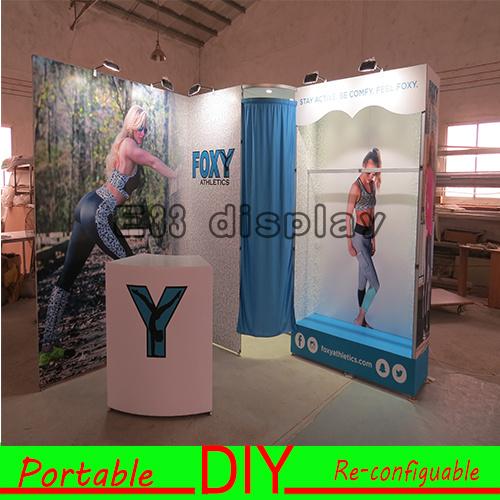Portable Exhibition Lighting : China 3*3m customized portable exhibition stand with lighting