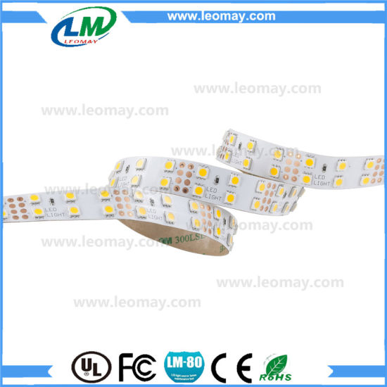 Super bright CRI90+ SMD5050 120LEDs LED Strip Double row pictures & photos